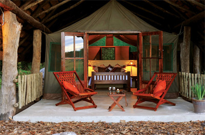 The Hide Safari Camp in Hwange National Park Zimbabwe